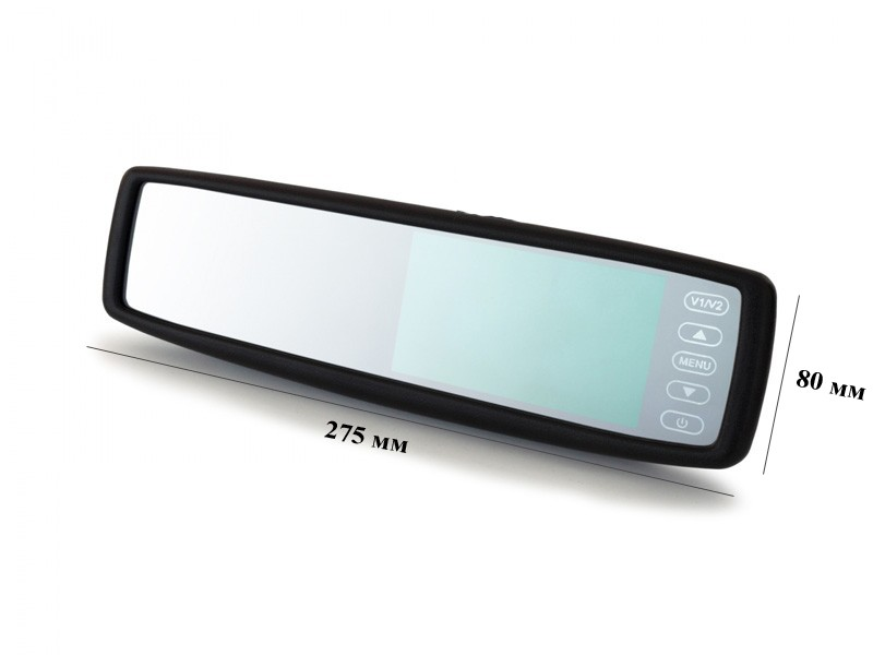 Автомобильное зеркало с монитором и штатным креплением BGT-043.